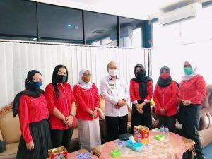 Audiensi dengan Sekdakab Lampura, LSPM Lampung Siap Jadi Garda Terdepan Bidang Pemberdayaan Perempuan dan Anak