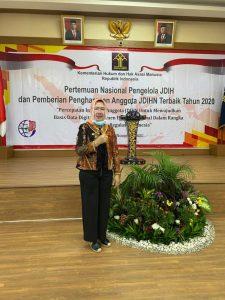 Keren.. Sekretaris DPRD Lampung Raih Penghargaan JDIHN dari Kemenkumham